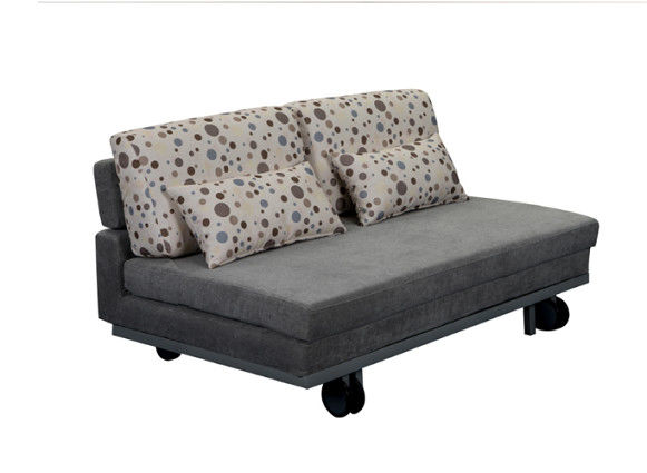 OEM Custom Made Functional Sofa Bed / Living Spaces Sofa Bed Iron Legs Castors