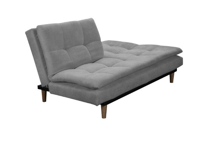 Foam Wooden Legs Fabric Sofa Bed Simple Design With High Density Foam Filling