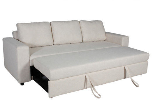 Wooden Frame Furniture Sofa Bed Durable Foam Imitated Linen Plastic Legs