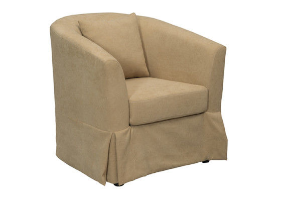 Durable Linen Fabric Sofa Leisure Style Chair Comfortable Smooth Surface