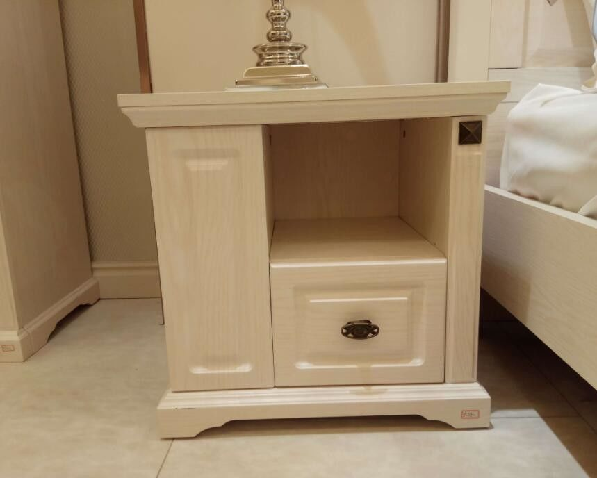 Large Storage Space European Contemporary Furniture / Bedroom Side Tables