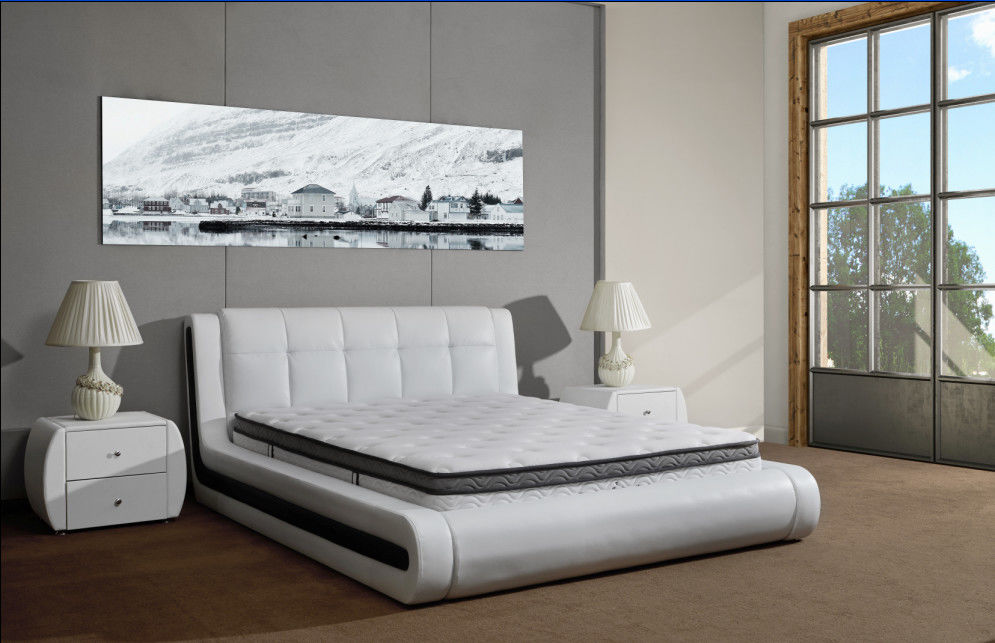 Eco - Leather Spring Foam Mattress For Upholstered Knock Down Bed